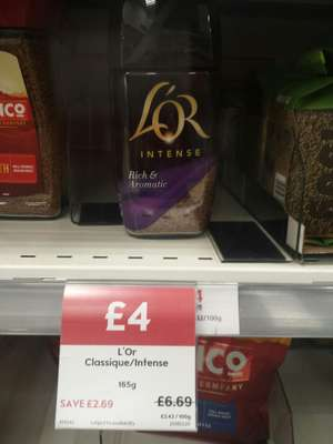 L'Or Instant Coffee 165g, save £2.79 £4 @ Waitrose
