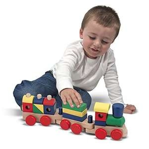Melissa & Doug Stacking Train - Classic Wooden Toddler Toy - Add on item - £5.10 @ Amazon