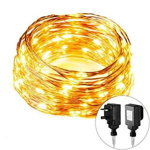 Led Decoration lights for Indoor&outdoor, Silver Copper Wire Lights, Waterproof - £3.99 Prime / £7.98 non Prime - Sold by morecoo and Fulfilled by Amazon