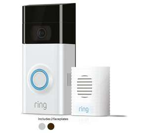 Ring Video Doorbell 2 and Chime Bundle £159 @ Argos