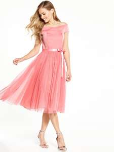 V by Very Bridesmaids Bardot Tutu Prom Dress was £68 now £27.20 (sizes 8-24) Free C+C @ Very