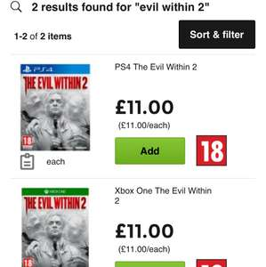 The Evil Within 2 £11 @ Asda