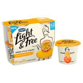 Danone Light and Free Greek Style Yogurt Various Flavours 4*115g just £1 was £2.50 @ Asda Online & In-Store