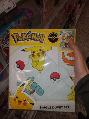 Pokemon single duvet set £4.50 instore @ Asda - Hunts cross