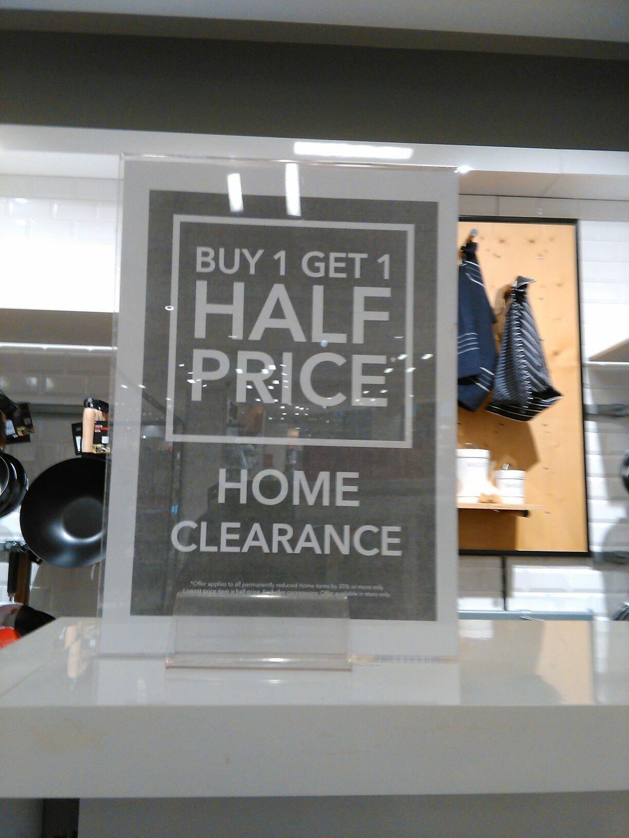 Debenhams clearance (Buy 1 get 1 half price) - Birmingham bull ring