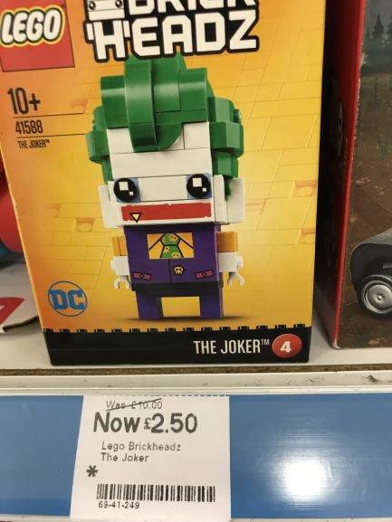 Lego brickheadz joker £2.50 @ boots - Meadowhall
