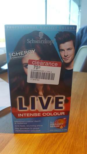 Scwarzkopf hair colouring 70p at BOOTS instore