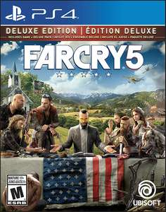Far Cry 5 Deluxe Edition pre order 20% discount for 100 uplay points £43.99 @ Ubi store