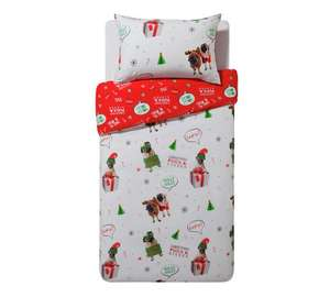 Merry pugmas single OR double reversible bedding set further reduced £5 @ argos
