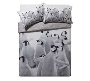 Penguin party reversible double bedding set further reduced now £6 @ argos