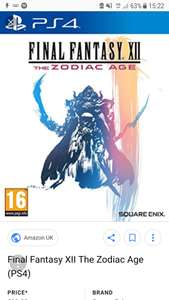 Final Fantasy xii the zodiac age just £11.99 @Argos on Ebay