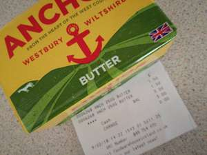 Anchor butter £1.50 @ Iceland