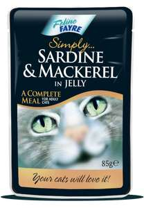 Sea food pouches for cats at Fultons 20p instore
