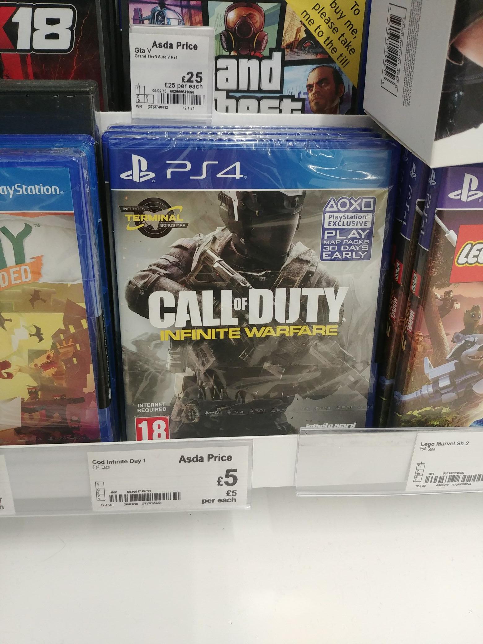 Call of duty infinite warfare PS4 £5 @ Asda - Canterbury