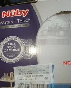 Nuby natural touch electric steriliser £8.75 in store Boots