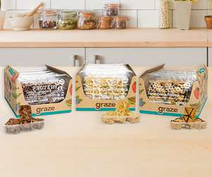 Bundles of Graze snacks starting at £6.38! with 40% off + £5 off code + free delivery