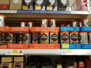 Nescafe azera coffee Tesco all types over half price and decaf for £2.89