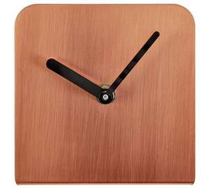 Quinn metal mantel clock copper\ brass £1.99 @ argos