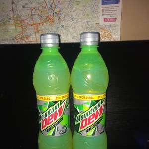 Mountain Dew 500ml 20p sugar free @ Poundstretchers