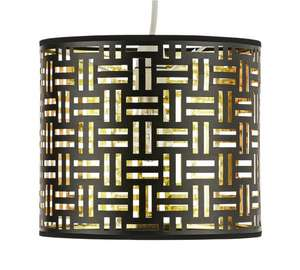 Laser cut easy fit lightshade black & gold was £17.99 further reduced now £6.99 @ argos
