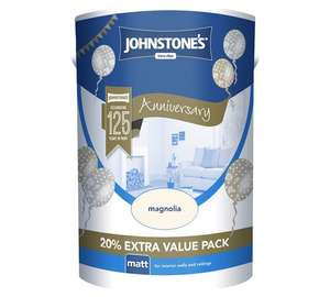 6 Litres of Johnstone's Magnolia matt paint now £7.99 @ Argos