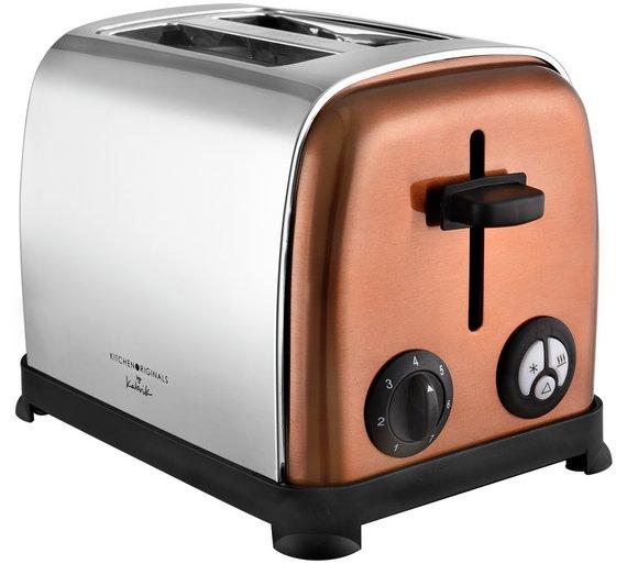 Kitchenoriginals 2 slice toaster - copper was £24.99 now £14.99 @ argos