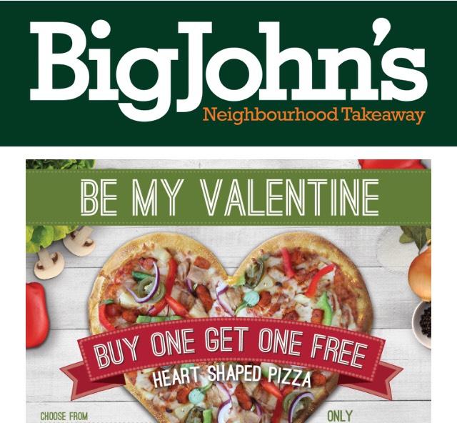Free Pizza BOGOF @ Big Johns - 2 for £7.99