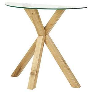 Solid Oak and Glass Coffee Table £58 @ Tesco Direct (Free C&C)