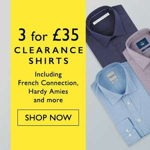 Any 3 clearance shirts from Moss Bros for £28 with code + Free C+C