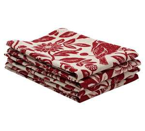 Sainsburys fireside red & cream 4 pack cotton napkins £1.50,tablecloth £5.40 @ argos