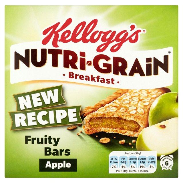 Kellogg's Nutri-Grain Breakfast Bars (6*37 gms) £1 was £1.99 @ Asda Online & In-Store