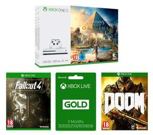 Xbox One S 500GB Assassin's Creed:Origins + Fallout 4 + DOOM + 3 Months Xbox Live Gold - Only £239 at Currys