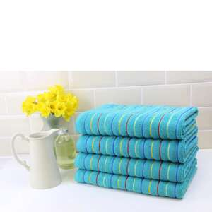 Restmor 100% Cotton 4 Pack Bath Sheets (500 GSM) teal or red £17.99 + £1.99 del @ The Hut