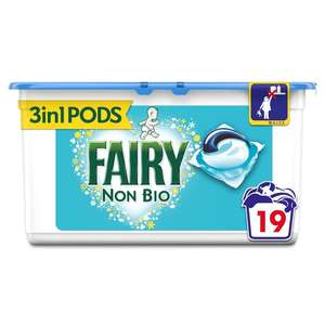 Fairy non bio pods £10 for 3x19 at Morrisons