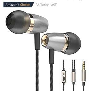 Betron AX3 Earphones Noise Isolating in Ear Headphones Balanced Bass Driven Sound with Microphone for Iphone , £10.99 Prime £14.98 Non Prime Sold by Betron Limited / FBA