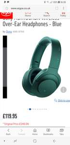 Sony MDR100ABN Wireless Over-Ear Headphones - Blue £119.95 at Argos