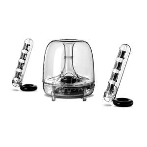 Harman Kardon Soundsticks III, pc, laptop, radio, gramophone, Chromecast, garden, conservatory , or gazebo, extension speakers. May be used to play a game on a a console or pc too. £109.99 @ Harman Kardon