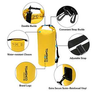 Dry Bag Waterproof 10L for £6.50 Prime / £10.49 Non Prime @ Amazon Sold by tomshop FBA