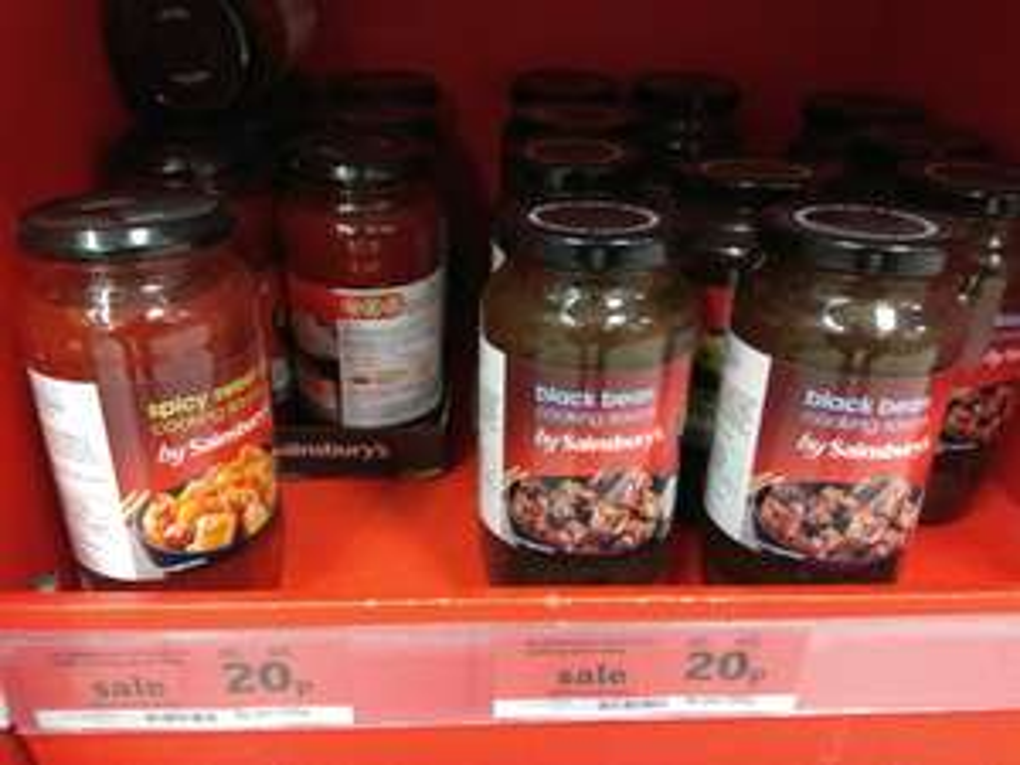 Sainsbury's black bean / spicy sweet chilli 500g cooking sauce 20p instore @ Sainsbury's