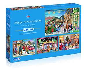 Gibsons Magic of Christmas (4 x 500 pieces) Jigsaw Puzzles - Amazon £6.59 Prime / £10.58 Non Prime