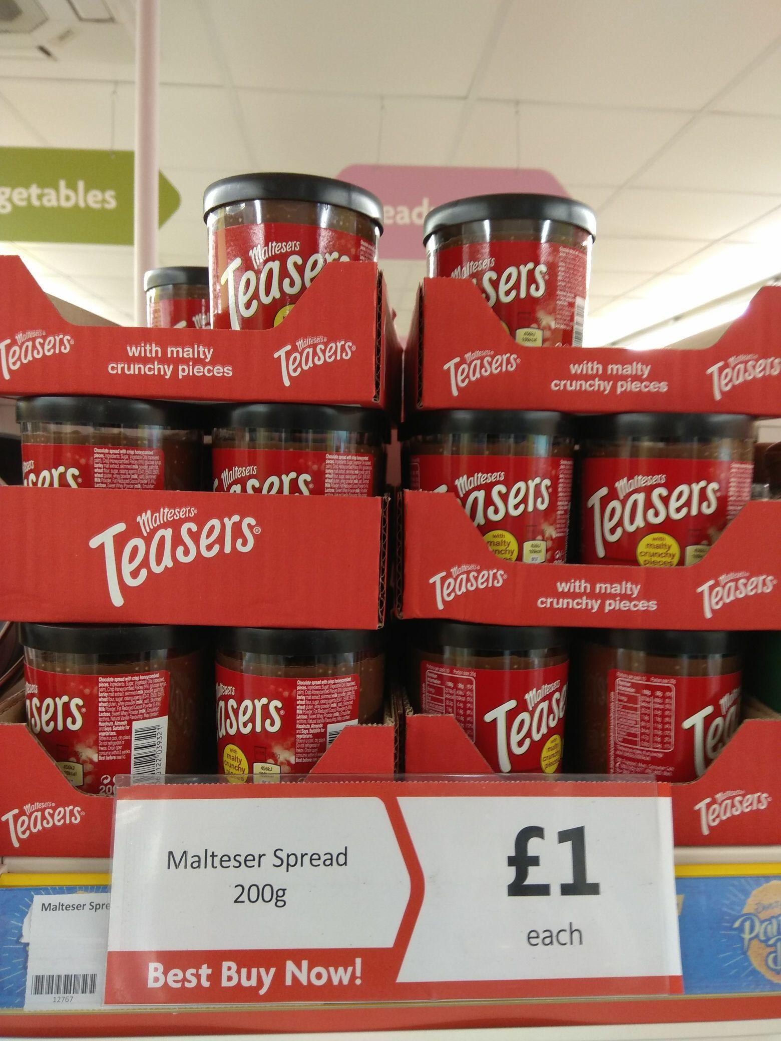 Maltesers spread 200g £1 @ Heron foods