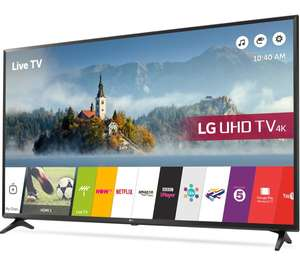"LG 55UJ630V 55"" Smart 4K Ultra HD with HDR, Freeview HD and Freesat HD and Freeview Play TV - Black (2017 Model) [Energy Class A] now only £469 delivered with code @ AO.com"