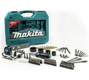 Makita 120 piece pro tool & accessory kit was £44.99 then £37.99 NOW £25.99 @ argos
