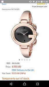 Ladies gucci watch ya134305 (temporarily out of stock) - £392 @ Amazon