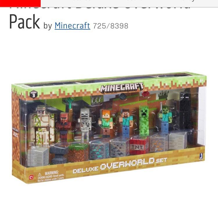 Minecraft deluxe overworld pack was £49.99 now £22.99 @ Argos