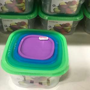Rainbow 4pk containers 10p instore @ Wilkos