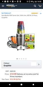 Nutribullet 600 Series Set £34 @ Amazon (On back order)