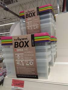 Sainsbury's Wham Box Storage 4 x 3.5ltr £4.25 (In-store)