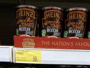 Heinz cream of tomato with Mexican spices @ b & m Bromborough