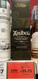 Ardbeg 10 years old single malt whisky - £35.25 instore at Sainsbury Northallerton